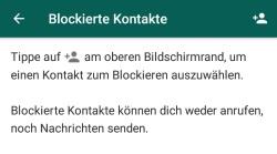 WhatsApp blockierte Nachrichten lesen