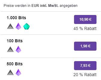 Twitch Bits kostenlos