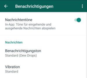 WhatsApp kein Ton bei Fotos