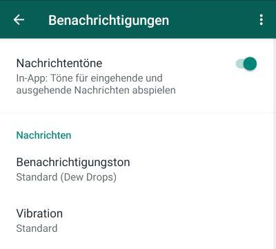 WhatsApp kein Ton bei Bildern - TouchTipps.de
