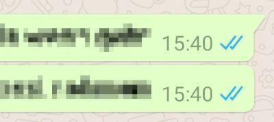 wieso nur ein haken bei whatsapp